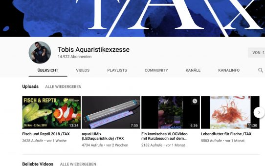 Tobis Aquaristikexzesse